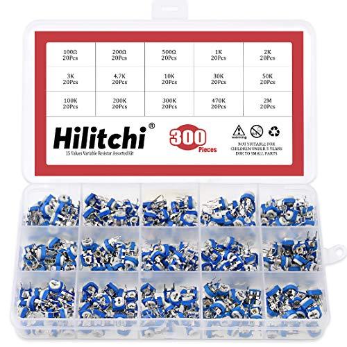 Hilitchi 15 Value 300pcs Variable Resistor Assorted Kit