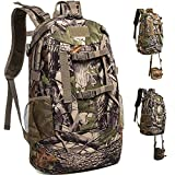 MARITTON Hunting Backpack,Durable Hunting Pack with Bow and Rifle Carry System for Camping,Hunting,Hiking. (Camo-Green)
