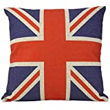 Luxbon Kissenbezug mit britischer Flagge im Vintage-Stil