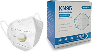 Mask with respiratory VALVE+5 Layers of Protection 10PCS