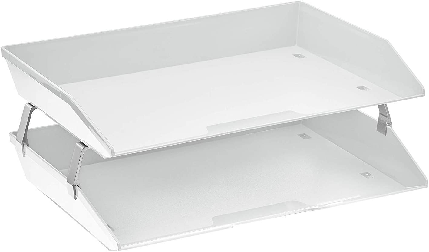 Acrimet New product!! Facility 2 Tier Letter Tray Desktop Dealing full price reduction Fi Plastic Load Side