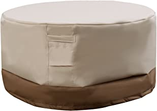 """Anya Nana Easy Cover 60"""" Waterproof Outdoor Round Table Cover Patio Furniture Protection Beige &Brown"""