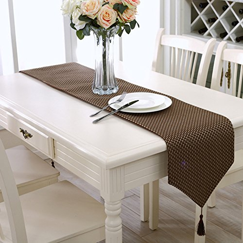 Riverbyland Concise Table Runner Brown Pattern 71x13