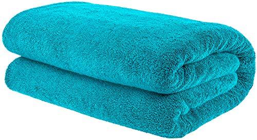 American Bath Towels, 40x80 Soft and Absorbent 650 GSM Premium Hotel and Spa Quality Oversized Organic Turkish Cotton Bath Sheet Towel, Aqua Blue