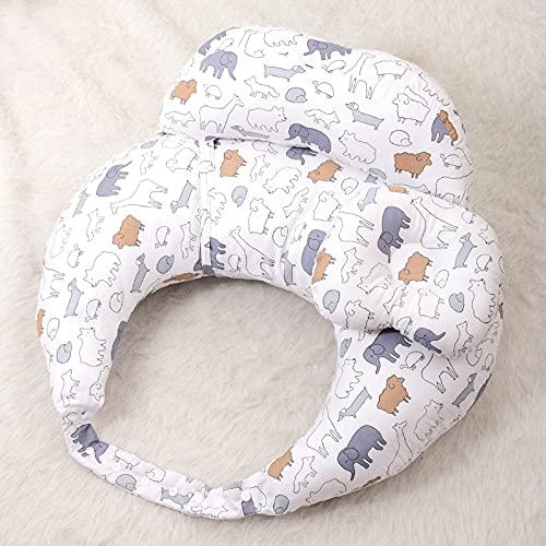 quwewn Almohada Multifunción De Relleno De Algodón PP Almohada De Cintura Tela De Algodón Puro Almohada De Maternidad En Forma De U Almohada Corporal para Adultos,A