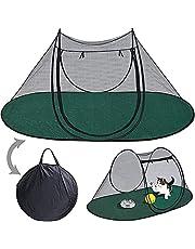 Opvouwbare kampeertent voor huisdieren Ademende pop-up tent voor huisdieren, 180cn x 90cm Draagbare grote vrijstaande pop-up klamboe-tent voor honden Katten, voor binnen en buiten