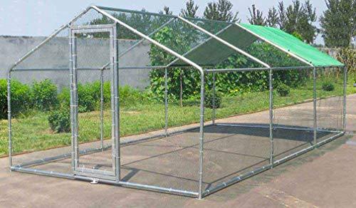 Poulailler enclos volière chenil Cage 18 m2 Acier galvanisé en Tubes de 32mm 3x6x2m