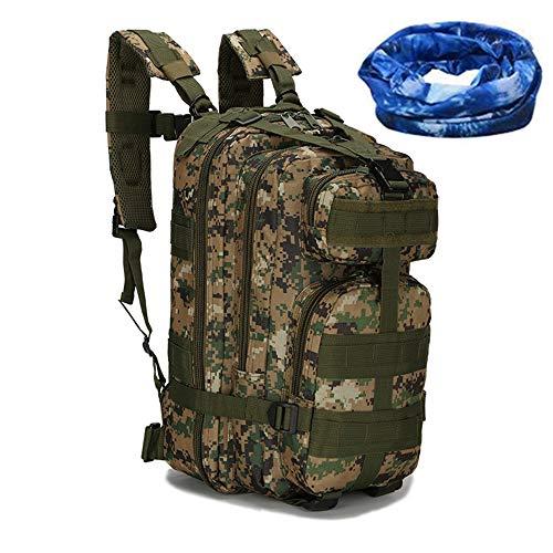 Haoyk - Zaino militare tattico, per sport all'aperto, escursionismo, trekking, campeggio, viaggi, alpinismo, motivo mimetico, 25 l, AOR2