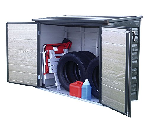 Spacemaker Mülltonnenbox, Aufbewahrungsbox, Gerätebox Onyx schwarz 144x75x128 cm Mülltonnenunterstand & Mülltonnenverkleidung