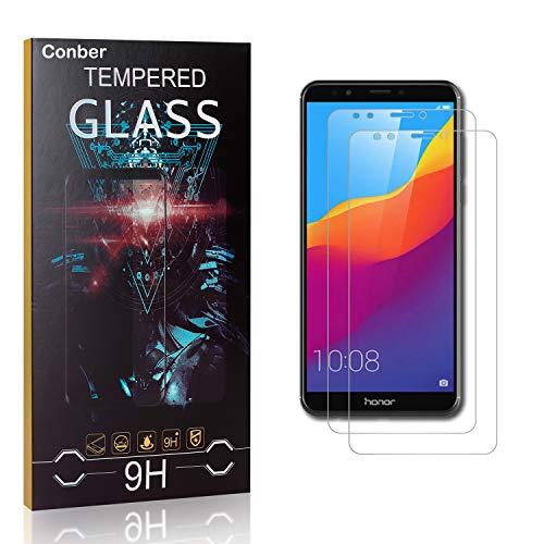 Conber [3 Pièces] Verre Trempé pour Samsung Galaxy J3 2017, Dureté 9H vitre de Protection, Compatible avec Coques, Film Protection Ecran pour Samsung Galaxy J3 2017
