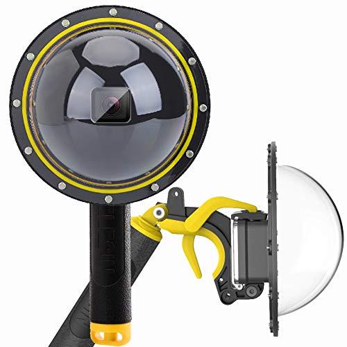Dome Port Custodia impermeabile per GoPro Hero 7 6 5 2018, custodia impermeabile per GoPro Hero 8, accessorio con pistola a grilletto e galleggiante Grip Fotografia subacquea. Gopro Hero 8