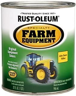 Rust-Oleum 7443502 Specialty Farm Equipment Brush On Paint, Quart, John Deere Yellow