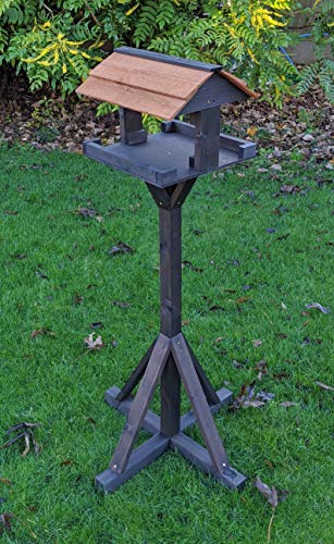 The Hutch Company Noir Maypole Bird Table