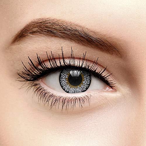 Farbige Kontaktlinsen Ohne Stärke Tri Tone Saphirblau (90 Tage)