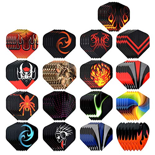 moonlux 102 Stück Dart Flight, Dart Flights, Dartflys 17 Sets Standartform für Soft Dartpfeile und Steel Dartpfeile