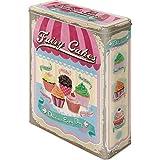 Fairy Cakes Cup Cakes Blechdose / Vorratsdose XL 8x19x26 cm super tolle Dose in Retro Nostalgie Design
