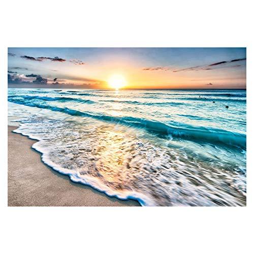 Bilderwelten Vlies Fototapete Sonnenuntergang am Strand Tapete 190x288cm