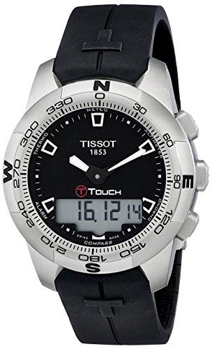 Tissot Men's T0474201705100 T-Touch Black Chronograph Dial Watch