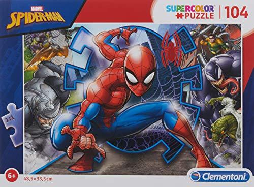 Clementoni Spider-Man Supercolor Puzzle Man-104 pezzi, Multicolore, 27116
