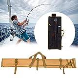 Dynamicoz Sac de Canne à pêche, Sac de Rangement Pliable épaissi de pêche avec la Courroie réglable gaudily