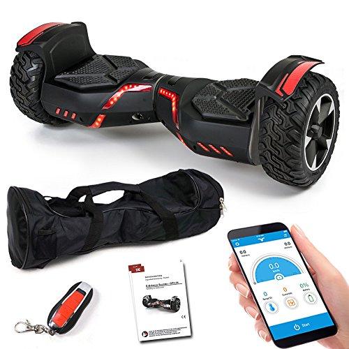 Smartway Balance Scooter 8,5 Zoll 800 W - SUV Ares GPX-04 mit App Funktion, Bluetooth Lautsprecher, Kinder Sicherheitsmodus, Elektro Self Balance Board E-Scooter Hover Wheel (schwarz)