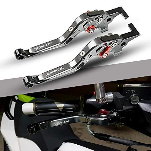 T MAX 530 500 560 Regolabile Leve Freno E Frizione Moto CNC Alluminio Per Yamaha Tmax 530 500 2008-2016 Tmax 530 SX DX 2017 2018 2019 TMAX 560 2020-Titano+Titano+Nero+Rosso