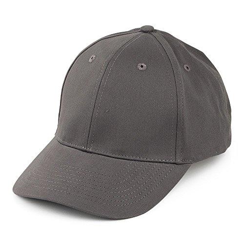 Village Hats Casquette en Coton Brossé Gris - Ajustable