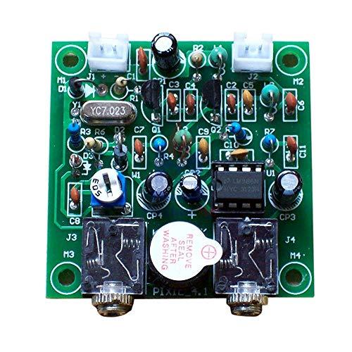 QRP Pixie Kit 40M CW Ham Radio Shortwave Transmitter Receivers Module Radio DIY Kits 7.023MHz-7.026MHz 5x5cm