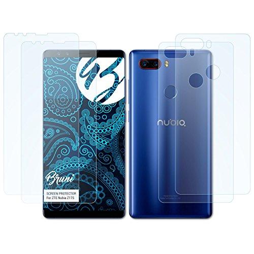 Bruni Schutzfolie kompatibel mit ZTE Nubia Z17S Folie, glasklare Bildschirmschutzfolie (2er Set)