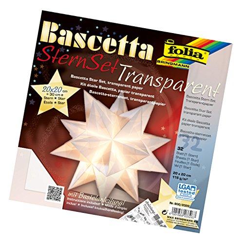 bascetta stern papier 20x20 transparent