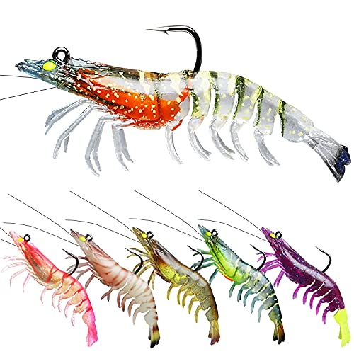TRUSCEND Fishing Lures for Bass, Pre-Rigged Soft...
