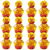 Winnie Cupcake Topper Tomicy 24pcs Cartoon Cupcake Toppers Pooh Reusable Cake Topper Cake Decoration Party Supplies for Kids Baby Shower Birthday Party Cake Decoration Supplies