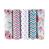 haus & kinder Florals 100% Cotton Muslin Swaddle Wrap for New Born Baby