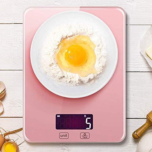 LLSS Präzisions-Küchenwaage aus gehärtetem Glas, rechteckige Lebensmittel-Digitalwaage, Touch-Taste auf dem LCD-Display, wasserdichte Oberfläche, leicht zu reinigen