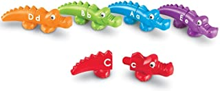 Learning Resources Snap-n-Learn Alphabet Alligators, Fine Motor Toy, 26 Double-Sided Pieces, Ages 18 Months +