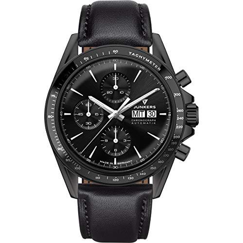 Junkers JUMO Automatik Uhr ETA Valjoux 7750 Saphirglas Chronometer Tachymeter Pilotenuhr Sonderedition Limitiert 9.22.01.02