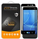 (2 Pack) Supershieldz for HTC (U11 Life) Tempered Glass Screen Protector, (Full Screen Coverage) Anti Scratch, Bubble Free (Black)