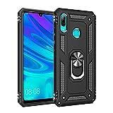 AFARER Hülle Kompatibel Mit Huawei P smart 2019/Honor 10 Lite Militärische Handyhülle Schwarz