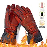 upstartech Heated Gloves for Men Women Rechargeable Upgraded Electric Heated Gloves with 3 Levels Temperature Control Touchscreen Hand Warmer Gloves for Skiing Fishing Hiking Camping (Rechargeable)