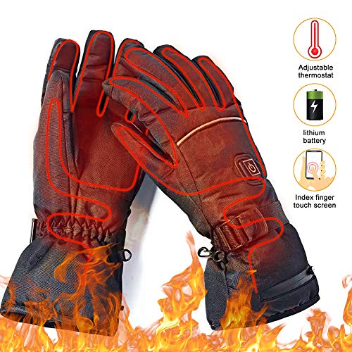 upstartech Heated Gloves for Men Women Rechargeable Upgraded Electric Heated Gloves with 3 Levels Temperature Control Touchscreen Hand Warmer Gloves for Skiing Fishing Hiking Camping