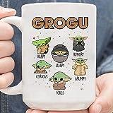 N\A Baby The Yoda The Mandalorian The Child Mug, grogu Moods Taza de café