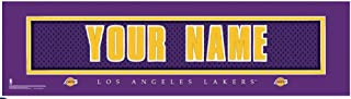 NBA Jersey Stitch Print Los Angeles Lakers Personalized Framed