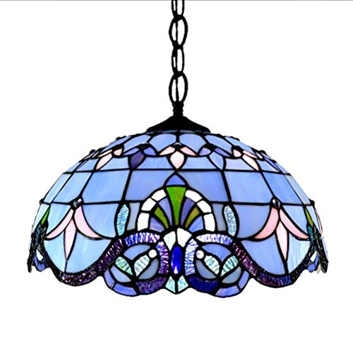 Kroonluchter plafondlamp milieunormen Indoor Anti Mode Vintage Hema Tiffany Art Hanger Blue Barok hanglamp