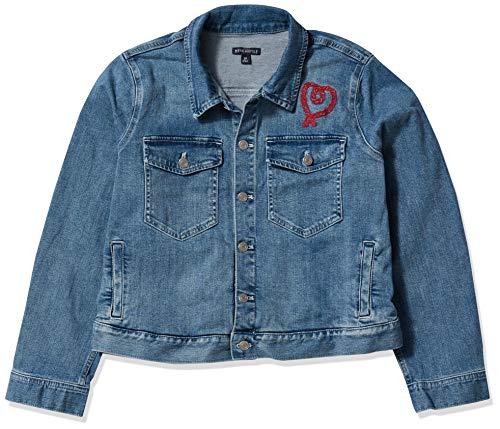 J.Crew Mercantile Women's Cropped Embroidered Denim Jacket, Vintage Light Tide Blue Wash, XS