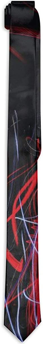 Red Black Abstract Sale price Regular store Painting Polyester Silk Neck Me Neckwear Tie