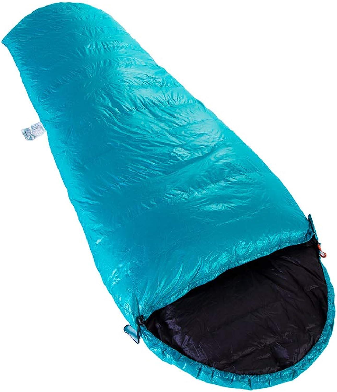 Erweiterte Mumienschlafsack Winter E400 Spleien Weie Gnsedaunen-Schlafsack Camping Wandern 3 Jahreszeiten Saco Dormir