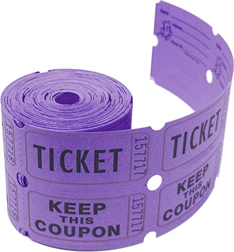 Tacticai 200 Purple Raffle Tickets (8 Colors Available) for Events, Entry, Class Reward, Admittance,...