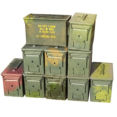 U.S. Military M2A1 50 Cal Ammo Cans (10 Pack)