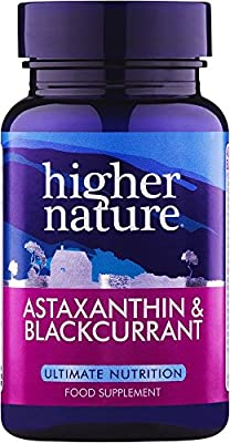 Higher Nature Astaxanthine and Blackcurrant Capsules Pack of 90 (Pack of 3)