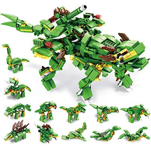 PANLOS STEM教育学習ビルディングブロックおもちゃ577恐竜ビルディングブロックセットティラノサウルスビルディングブロックセット子供向けギフト男の子と女の子すべての主要ブランドにぴったり